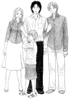 Family - Dr. Tenma - Johan - Nina - Dieter - Monster - anime and manga series by Naoki Urasawa