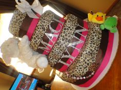 Diaper Cake.. Awesome gift for baby showers!.. facebook search Pamper Pastries!