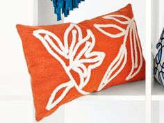 Bring a bit of autumn elegance indoors with this seasonable pillow.