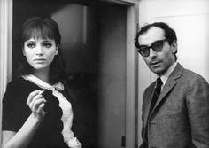 Anna Karina & Jean-Luc Godard on Alphaville.