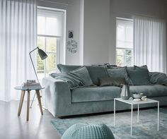 Sheer Curtains are a Beautiful Way to Brighten any Room. Find a Design that Suits Your Decor Online from QuickFit Blinds & Curtains' Stylish Range of Sheer Curtains! Grey Curtains, Curtains With Blinds, Halle, Home And Living, Living Room, Custom Made Curtains, How To Make Curtains, Sweet Home, Love Seat