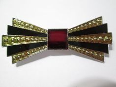 VINTAGE ENAMEL UNDER ACRYLIC BOW TIE SHAPE PIN BROOCH BEX STYLE BLACK RED DECO in Jewelry & Watches, Vintage & Antique Jewelry, Costume, Retro, Vintage 1930s-1980s, Pins, Brooches | eBay Club Style, Ribbons, Brooch Pin, 1930s, Brooches, Vintage Antiques, Antique Jewelry, Knots, Retro Vintage