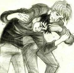 I love this drawing bc this is exactly how Ron was described in the book and how I pictured him.  Kudos to the artist.