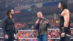 Shane McMahon announces Rollins will challenge Reigns for the title at Money in the Bank on June 19.