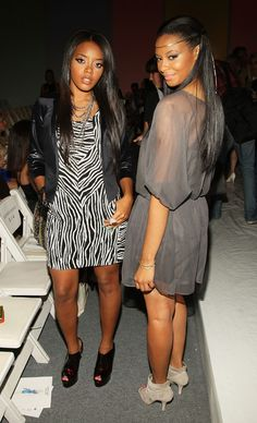Sisters Angela Simmons & Vanessa Simmons; beautiful women (Spring 09)