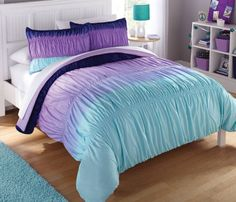 Purple Bedding Sets, Blue Comforter Sets, Satin Bedding, Black Bedding, Egyptian Cotton Duvet Cover, Woman Bedroom, New Room, Comforters, Yurts