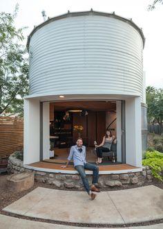 A 1950s Grain Storage Facility Transformed Into A Modern, Cozy Home For Two - DesignTAXI.com