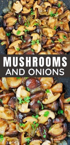 These Garlic Butter Mushrooms with onions are the PERFECT versatile keto side dish for steak, burgers, chicken or pork! They're ready in just 20 minutes!! #MUSHROOMS #KETOSIDEDISH Best Sauteed Mushrooms, How To Cook Mushrooms, Mushroom And Onions, Stuffed Mushrooms, Steak Side Dishes, Low Carb Side Dishes, Side Dish Recipes, Healthy Sides For Burgers, Burger Sides