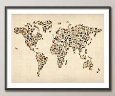 Cats dogs map  World Maps  Pinterest