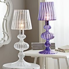 """These glass lamps are """"wow"""" factors!"""