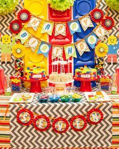 fiesta de cumpleaños del tema del lego