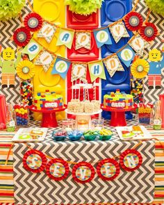 Twins' Lego Themed Birthday Party with Such Awesome Ideas via Kara's Party Ideas | KarasPartyIdeas.com