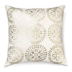 metallic decorative pillow square 18x18 cream threshold target - Decorative Pillows Target