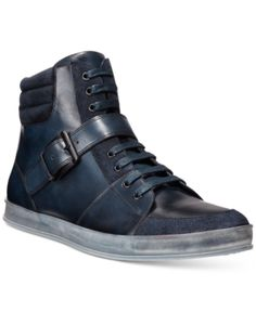 Skew retro with these leather and suede steampunk-inspired high-tops from Kenneth Cole.