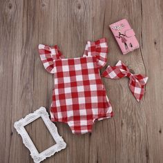 Newborn Baby Girl Cotton Bowknot Clothes Bodysuit Romper Jumpsuit Outfit Set US #Unbrand #EverydayHolidayParty