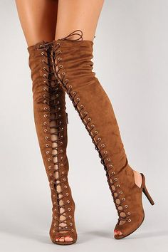 c74bb67bee0 Breckelle Lace Up Back Cut Out Over The Knee Boot Thigh High Boots
