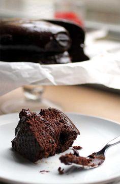 The Best Black Bean Chocolate Cake // The Pancake Princess