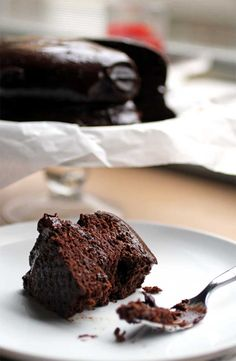 The Best Black Bean Chocolate Cake // The Pancake Princess