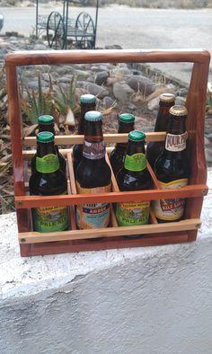 Red Cedar Growler Carrier Handmade 6/8 Pack Rack by WoodOlBoys