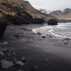 """Black Sand Beaches #iceland #darkness #blackworld #travel"""