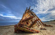 Whether purposefully sunk for scuba diving exploits or the devastating result of freak weather conditions, we've taken a look at some of the world's most spectacular shipwrecks, as well as how you can visit them. Mysterious Places On Earth, Haida Gwaii, Abandoned Ships, Merchant Navy, Ghost Ship, Cruise Destinations, Best Cruise, Europe Photos, Winter Storm