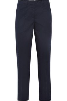 Miu Miu Cropped stretch-cotton twill pants | NET-A-PORTER