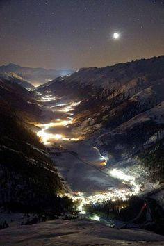 Switzerland at night
