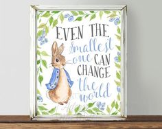 Peter Rabbit Nursery Prints Baby Shower Beatrix by AdornMyWall