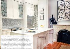 Condo ~~ A small amount of wallpaper for a small, pristine kitchen.
