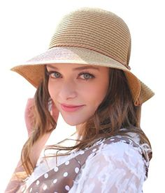 Home Prefer Womens Straw Sun Hat UPF 50+ Sun Protection Cap Wide Brim Bucket Hat (B-Coffee). For product & price info go to:  https://all4hiking.com/products/home-prefer-womens-straw-sun-hat-upf-50-sun-protection-cap-wide-brim-bucket-hat-b-coffee/