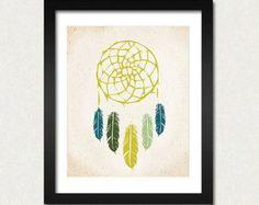 Dreamcatcher Print, Native Wandkunst, indische Kunst, moderne Home Decor, Dreamcatcher, Poster, American Tribal, Verkauf kaufen 2 erhalten 3, Farbe auswählen