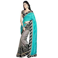 Buy Go Desi Multicolor Bhagalpuri Silk Saree by Go Desi, on Paytm, Price: Rs.370?utm_medium=pintrest