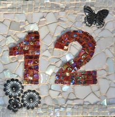 Make a Mosaic House Number for Your Home - Detailed Instructions This Mosaic was Pinned By www.mosaicnumbers.com