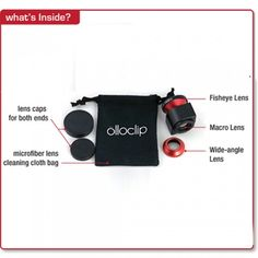 olloclip-- for iPhone- comes with a macro, a wide angle, and a fish eye! Love!