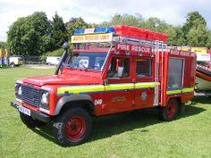 Fire Service: Land Rover Defender NX05FVA Cleveland Fire Brigade Preston Park 2011