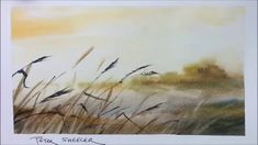 A quick and fun, Wet into Wet demonstration of a Pond in Mist painting. ... - so beautiful!