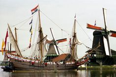"Replica of the pinas ""Duyfken"" of the Dutch East India company. In 1596, it made the first trip to the East Indies. In 1606, under command of Captain Willem Jansz, it sailed to Papua New Guinea and Northern Australia, making it the ship that discovered Australia for the Europeans"