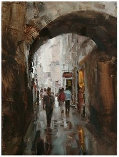 Tibor Nagy - walk in the rain