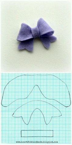 25 Images of Felt Bow Template For Cricut Felt Hair Bows, Diy Hair Bows, Diy Bow, Felt Diy, Felt Crafts, Fabric Crafts, Sewing Crafts, Diy Crafts, Felt Flowers