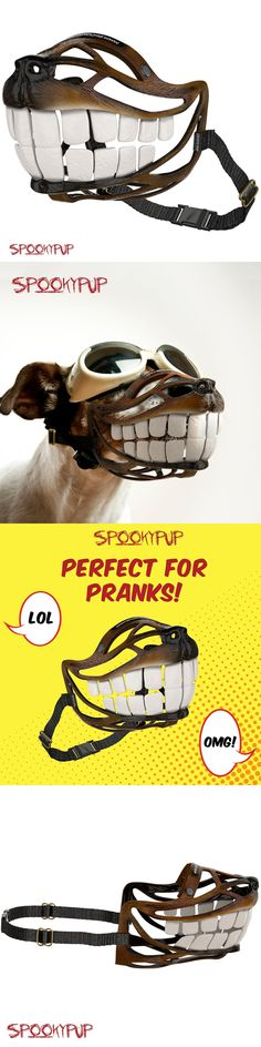 Costumes 52352: Spookypup Hilarious Dog Costume Muzzle With Large Teeth – Turn Your Dog I -> BUY IT NOW ONLY: $66.33 on eBay!
