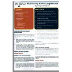 Genealogy at a Glance: Revolutionary War Genealogy Research by Craig Scott