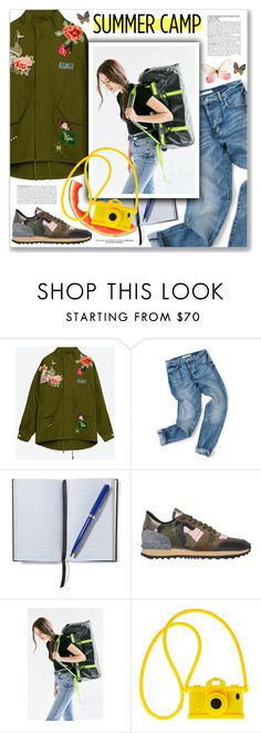 """""""Butterfly, Jason Mraz"""" by blendasantos ❤ liked on Polyvore featuring McGinn, Smythson, Valentino, The North Face, Moschino, Betsey Johnson, summercamp and 60secondstyle"""