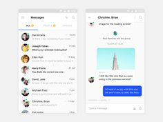 Messages Android designed by Ben Bate. Connect with them on Dribbble; the global community for designers and creative professionals. Android Design, Ios Design, Motion App, Screen Design, Chat App, Mobile Design, Mobile Ui, Material Design, Interactive Design