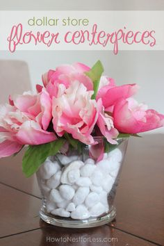 Dollar Store Flower Centerpieces