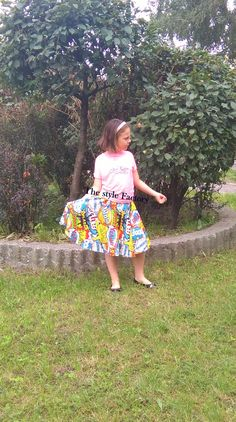 skirt with a full circle of the printed comic // thestylefactory.pl //