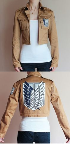 Attack on Titan Jacket: Cosplay or everyday use! www.mywonderlist.com - COSPLAY IS BAEEE!!! Tap the pin now to grab yourself some BAE Cosplay leggings and shirts! From super hero fitness leggings, super hero fitness shirts, and so much more that wil make you say YASSS!!!