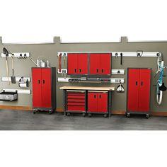 Gladiator Premier Welded Steel Red 17 Piece Set. Gladiator GarageWorksGarage  Storage CabinetsGarage ...