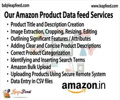 With an experienced listing team, we are skilled at handling upswings in product data feed while meeting your deadline. #productdatafeed #datafeed #datafeedoptimization #marketplace Amazon Products List, Data Feed, Data Entry, Image Editing, Management, How To Get, Anchorage Alaska, United States, Free