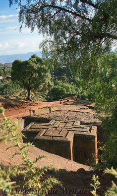 #Äthiopien, die berühmten Felsenkirchen von Lalibela. Mehr dazu im #Reiseblog >>